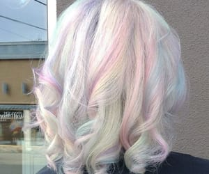 hair, pastel hair, and opalescent image
