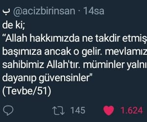 islam, twitter, and ayet image