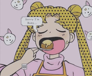 sailor moon, food, and pastel image