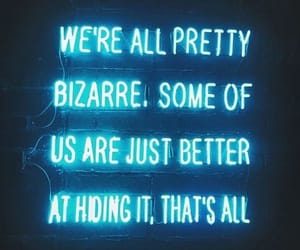 quotes, bizarre, and neon image