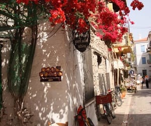 Greece, street, and red image
