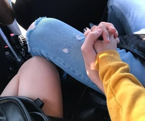 beauty, couple, and hands image