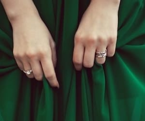 green, dress, and hands image
