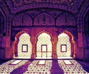 india, purple, and architecture image