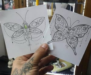 butterfly, girls, and tattoo image