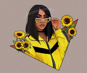 aesthetic, outline, and sunflower image