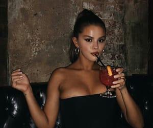 selena gomez, selena, and drink image