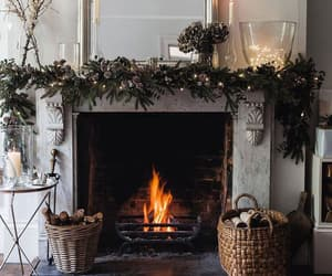cozy, fire, and decorations image