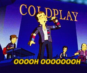 coldplay, love, and the simpsons image