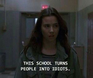 school, quotes, and idiots image