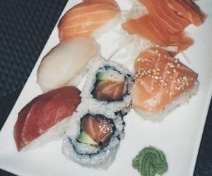 food, girl, and sashimi image