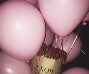 balloons, present, and roses image