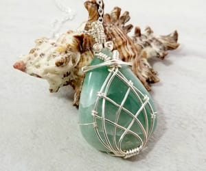 etsy, green necklace, and handcrafted jewelry image