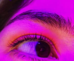 eyes, light, and neon image