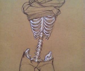 drawing, skeleton, and bones image