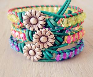 bracelet, flowers, and fashion image