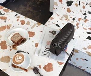 bag, cake, and coffee image