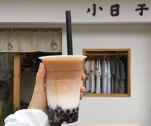 drink, coffee, and bubble tea image