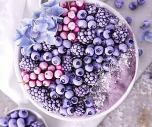 healthy, purple, and blueberry image