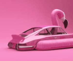 art, flamingos, and humour image