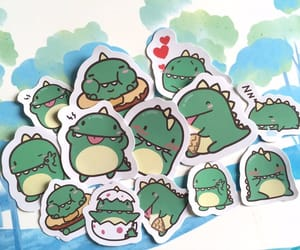 dragon, fat, and sticker image