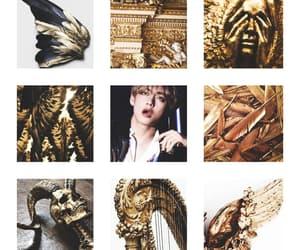 gold, taehyung, and bts image