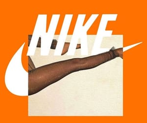 aesthetic, nike, and orange image