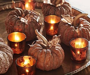 autumn, candle, and candles image