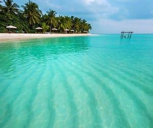 heart, holidays, and Maldives image