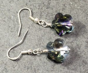 crystal jewelry, etsy, and flower earrings image