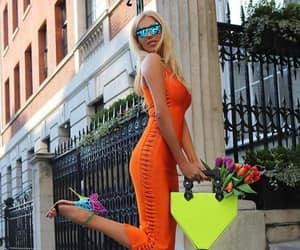 bag, dress, and sunglassess image