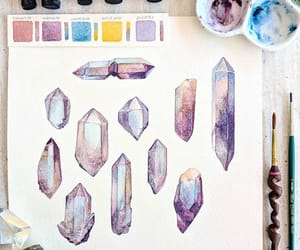 crystals, draw, and paint image