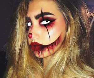 Halloween, makeup, and clown image