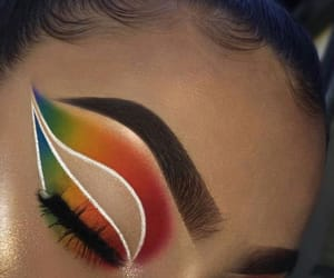 eye, eyebrows, and makeup image