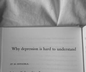 depression, quotes, and sad image