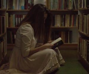 books, brunette, and dark image