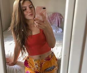 baby girl, latina, and mirror selfie image