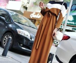 dress, hijab, and skirt image