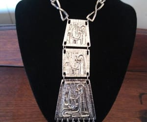etsy, bib necklace, and vintage jewelry image