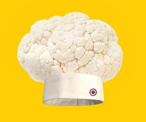 art, cauliflower, and chef image