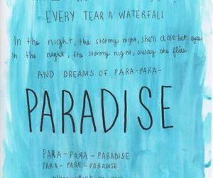 paradise, coldplay, and Lyrics image