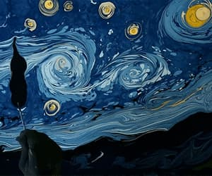 art, van gogh, and the starry night image