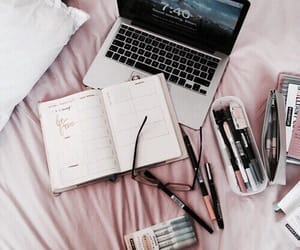 study, school, and pink image