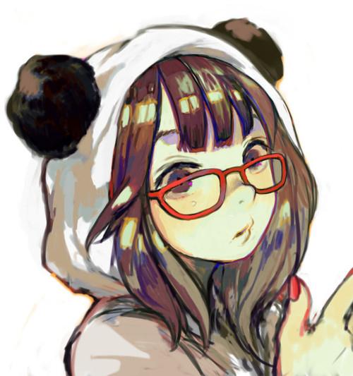 Anime girl panda suit glasses favim com 464804 large