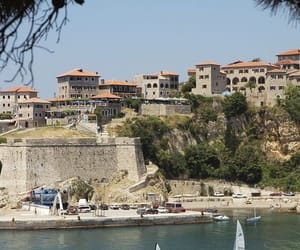beach, buildings, and Montenegro image