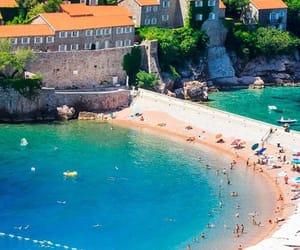 beach, blue, and Montenegro image