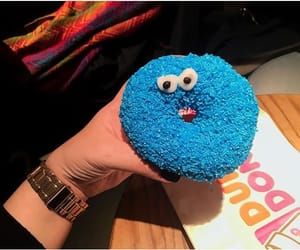 blue, cafe, and cookie monster image