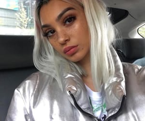 beauty, dyed hair, and silver hair image