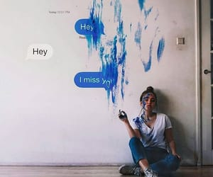 art, message, and blue image