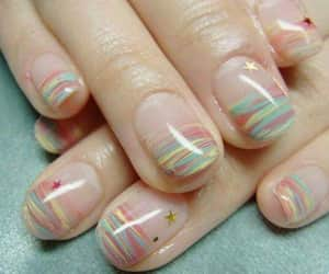 beuty, manicure, and rainbow image